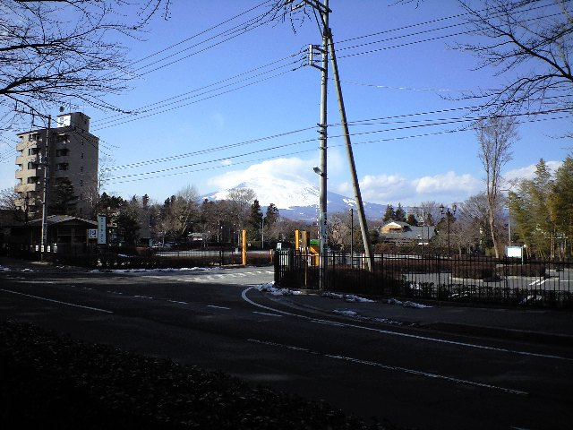富士山を間近に
